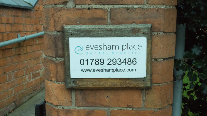 Evesham Place Dental Stratford-upon-Avon - outside sign