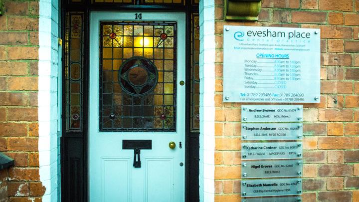 Evesham Place Dental Stratford-upon-Avon - Front door