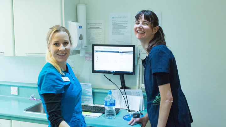 Evesham Place Dental Stratford-upon-Avon - katharine and dental nurse
