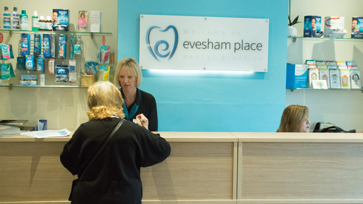 Evesham Place Dental Stratford-upon-Avon Reception customer