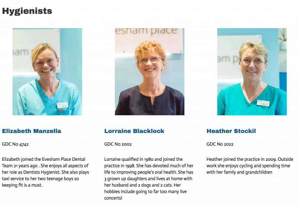 dental hygienist team evesham place dental stratford upon avon